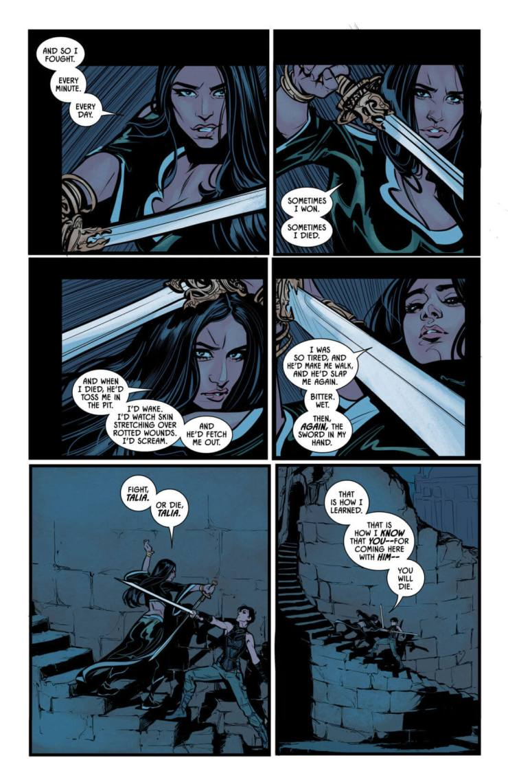 """Batman #35 review: """"Rules of Engagement"""" finale sees Catwoman vs. Talia al Ghul in a swordfight to the death"""