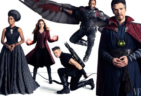 Ramonda, Scarlet Witch, Hawk Eye, Falcon and Doctor Strange