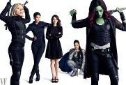 Black Widow, Maria Hill, Laura Barton, Valkyrie and Gamora