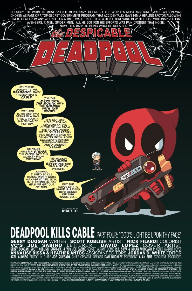 Marvel Preview: Deadpool #290