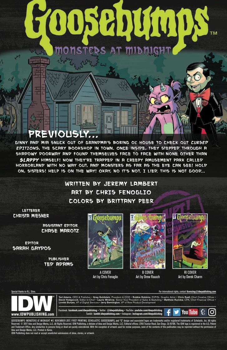 [EXCLUSIVE] IDW Preview: Goosebumps: Monsters at Midnight #2