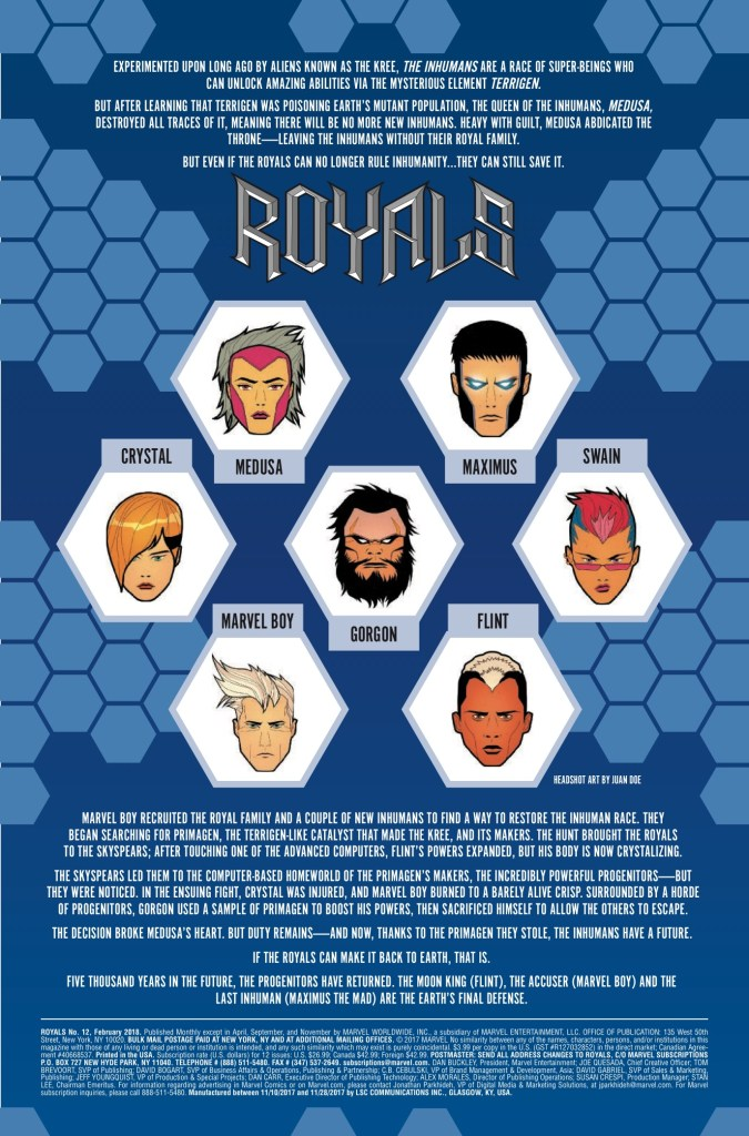 Marvel Preview: Royals #12