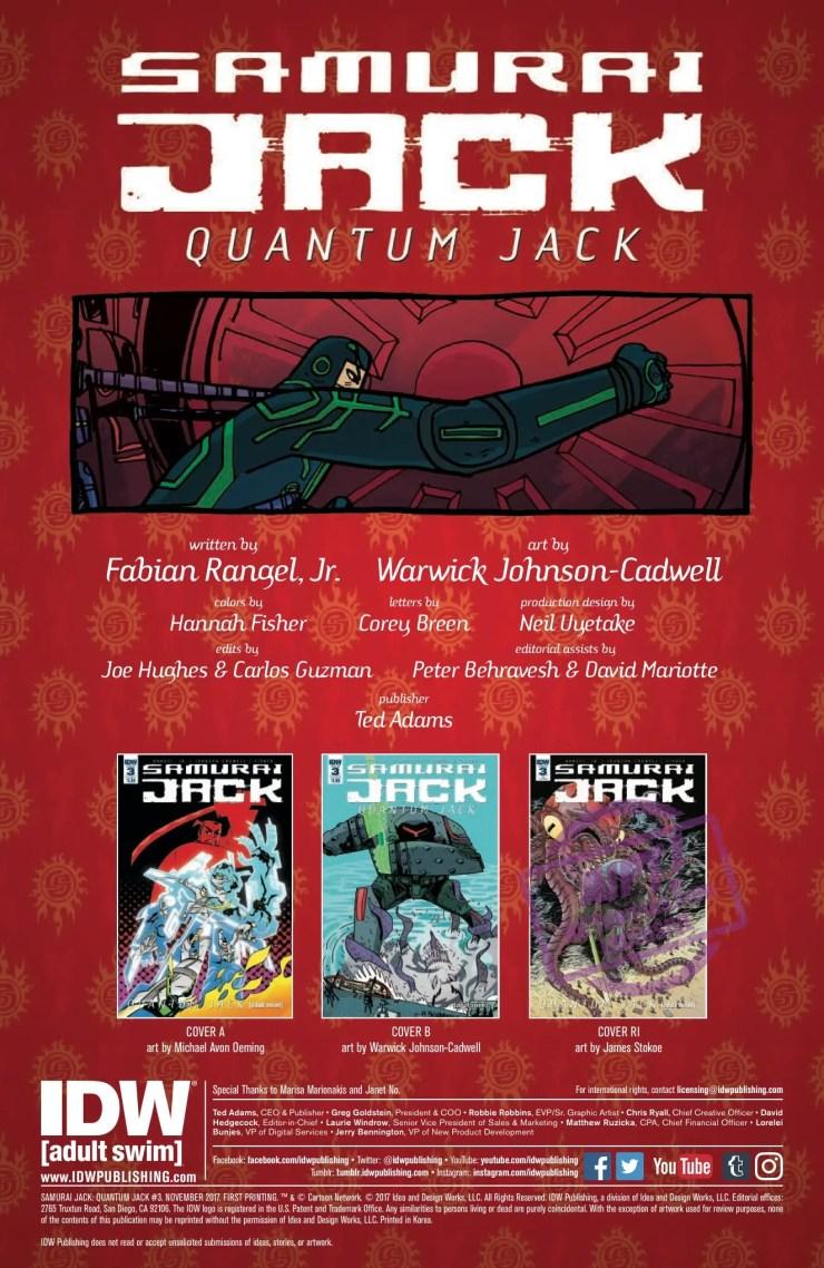 [EXCLUSIVE] IDW Preview: Samurai Jack: Quantum Jack #3