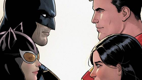Ready for a double date with Batman, Superman, Lois Lane and Catwoman?