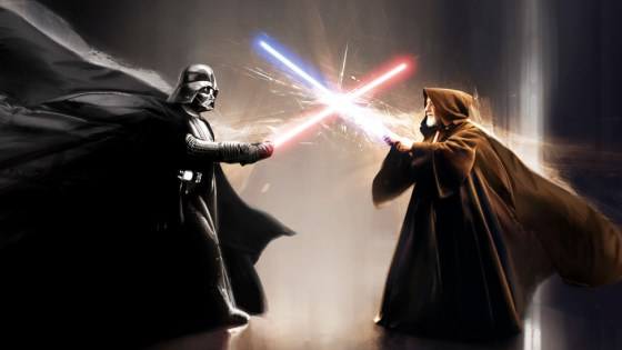 A VFX project sees a modern day update to the classic 1977 battle between Darth Vader and Obi-Wan Kenobi from Star Wars: A New Hope.