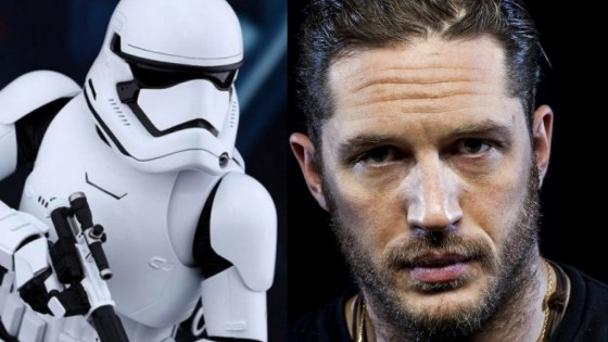 Tom Hardy made a cameo appearance in Star Wars: The Last Jedi, but if you blinked you might've missed it.