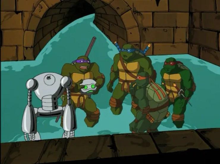 Turtles with severed Fugitoid head