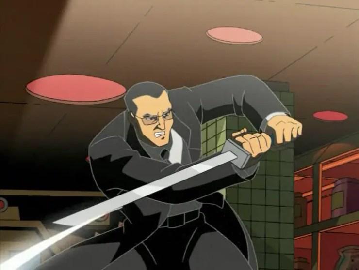Agent Bishop with sword