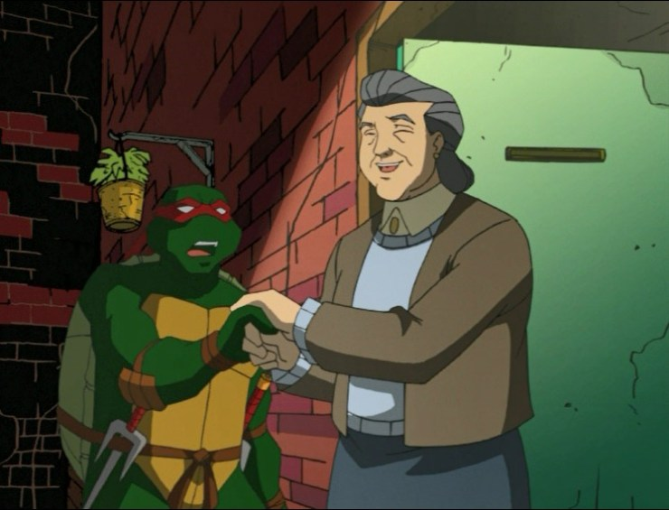 Raphael and blind lady