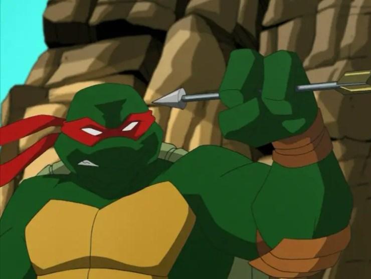 Raphael catches arrow