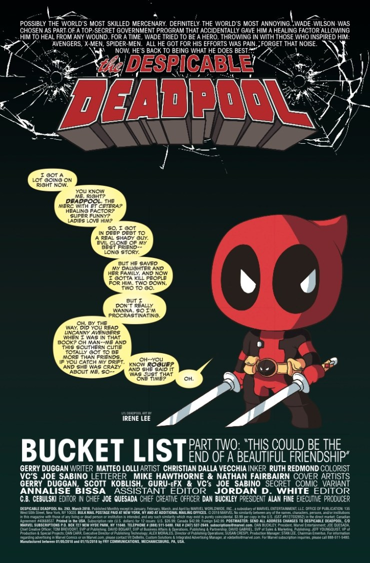 Marvel Preview: Despicable Deadpool #293