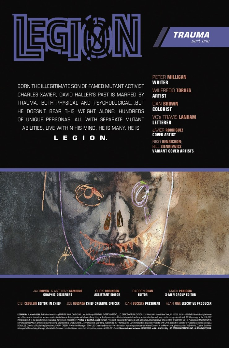 Marvel Preview: Legion #1