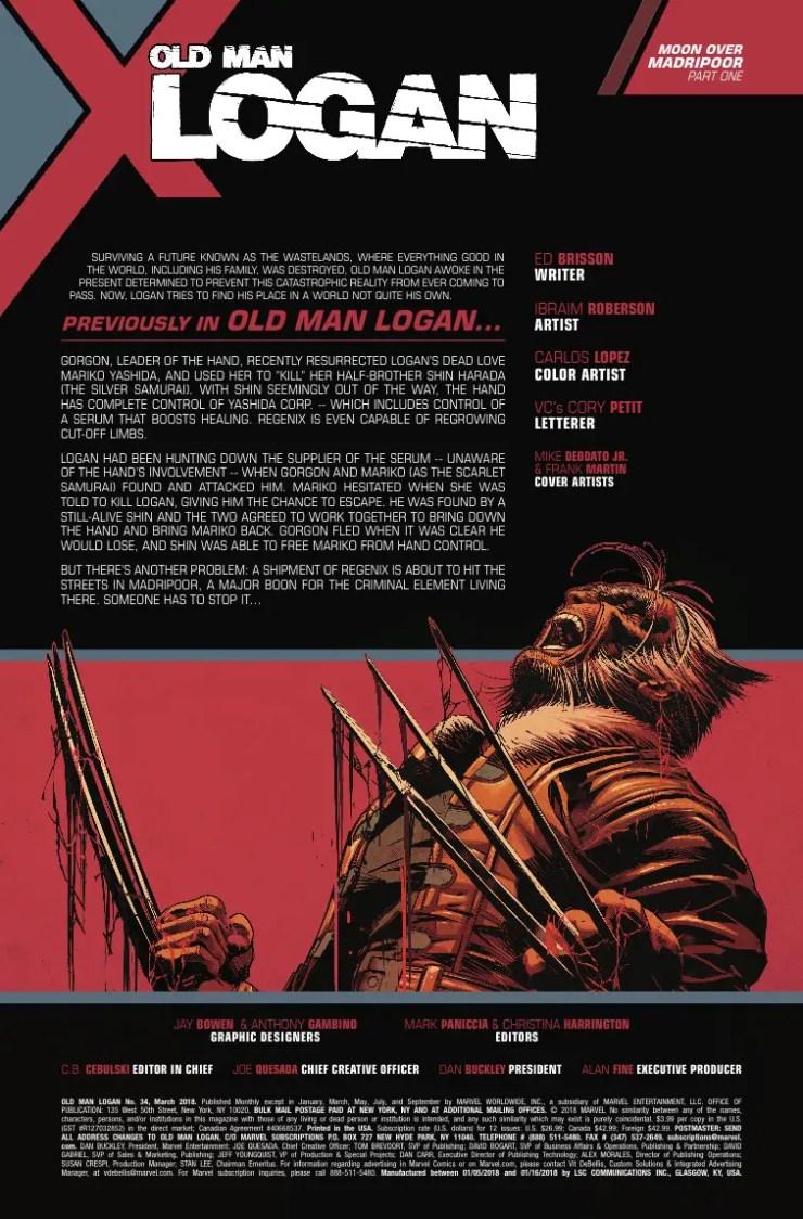 Marvel Preview: Old Man Logan #34