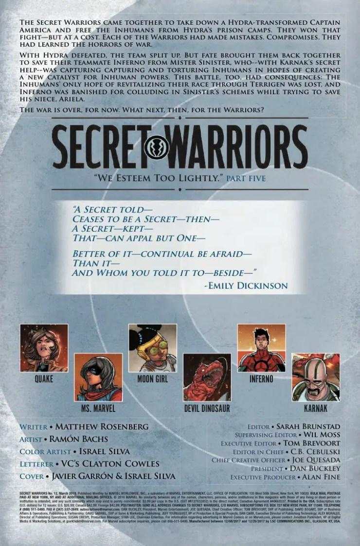Marvel Preview: Secret Warriors #12