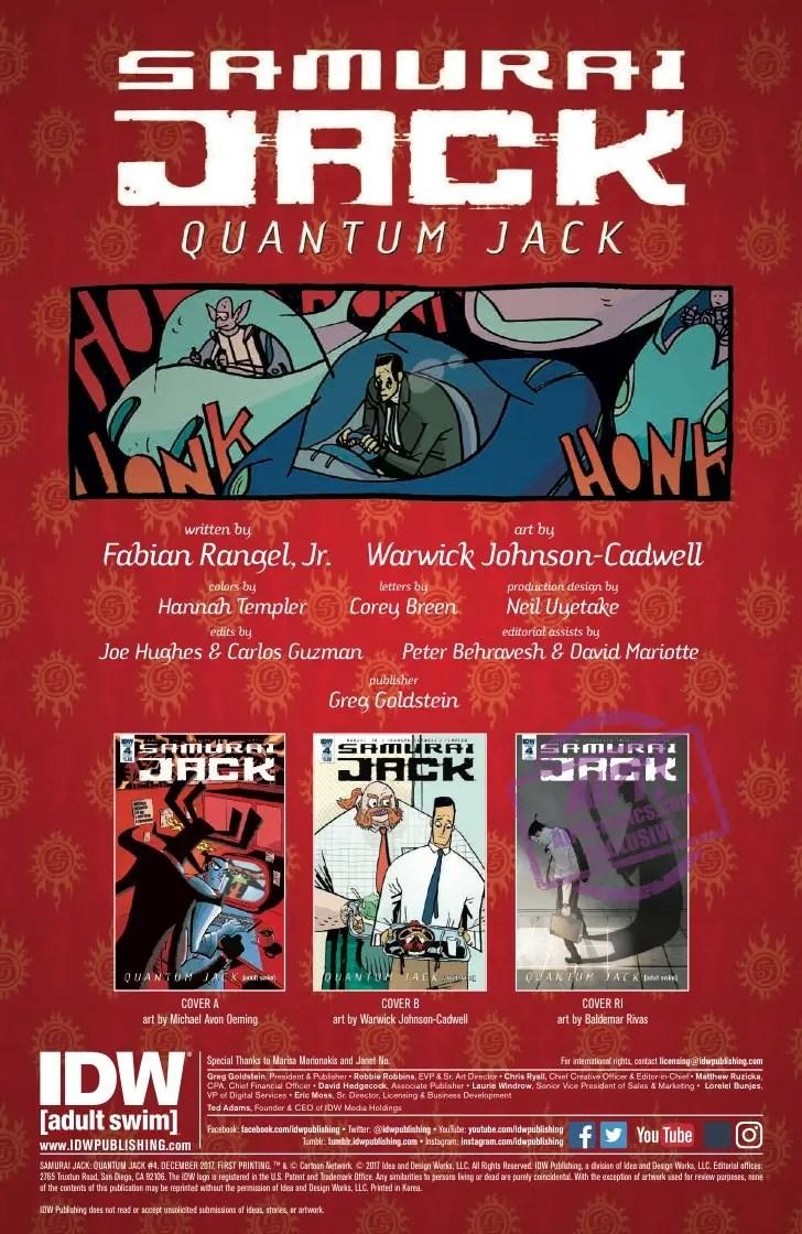 [EXCLUSIVE] IDW Preview: Samurai Jack: Quantum Jack #4