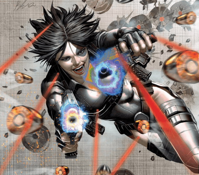 Domino writer Gail Simone talks her return to Marvel, the series' influences and Domino carrying an 'absolutely ridiculous gun'
