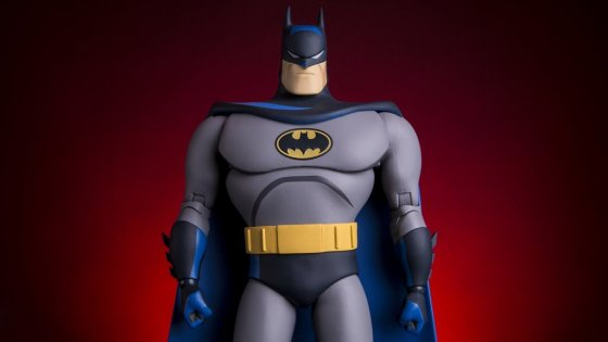 Based on the seminal Batman: The Animated Series, the Batman 1/6 Scale Figure stays true to the television classic - sculpted to match the iconic style of the show with a paint scheme evoking the bold, graphic look of an animated cell. Featuring approximately 30 points of articulation,multiple switch-out hands, heads, accessories, and a Bat Symbol figure stand, Batman comes fully equipped to keep Gotham - and your collection - safe and sound!