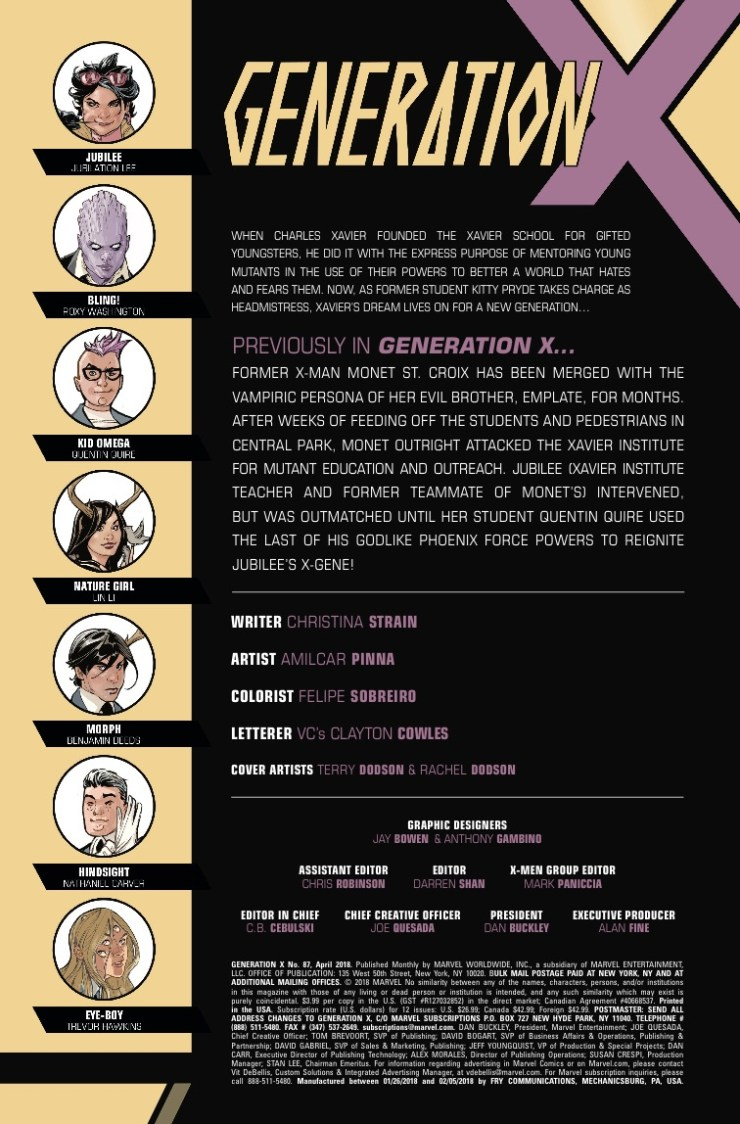 Marvel Preview: Generation X #87