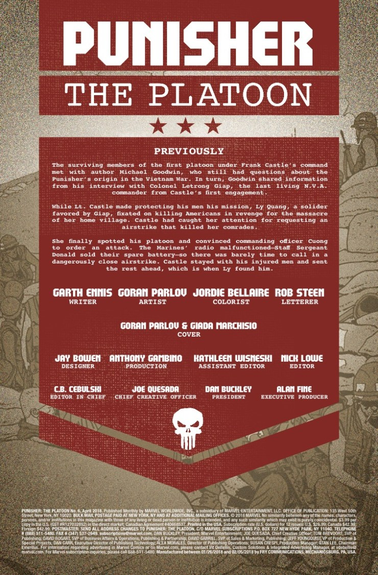 Marvel Preview: Punisher: The Platoon #6