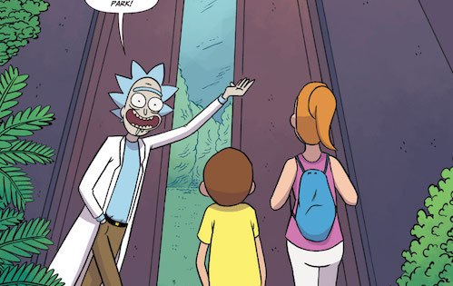 Rick, Morty, and Summer journey to a prehistoric land full of DINOSAURS!