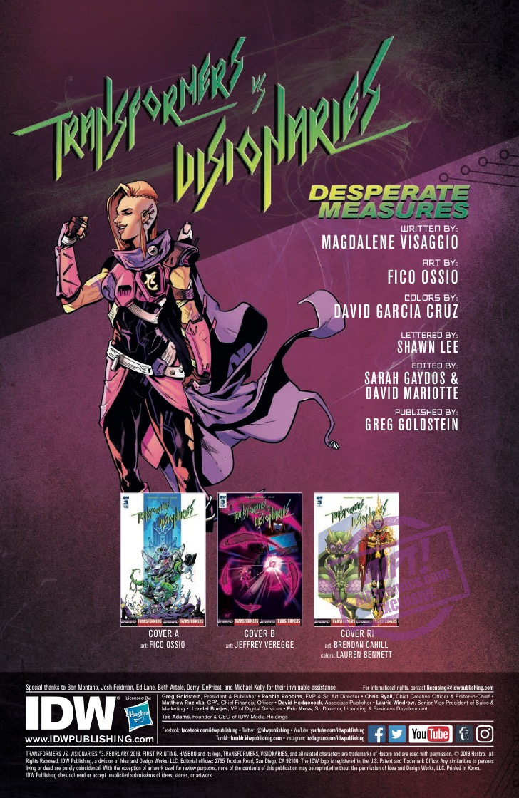 [EXCLUSIVE] IDW Preview: Transformers vs. Visionaries #3