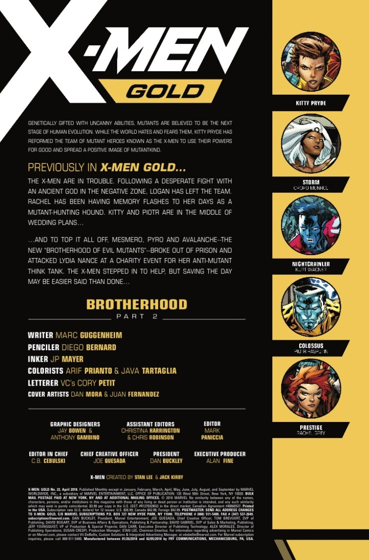 Marvel Preview: X-Men Gold #22