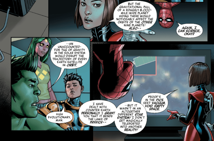 Reality Check:  Orbits and impacts in Avengers #672