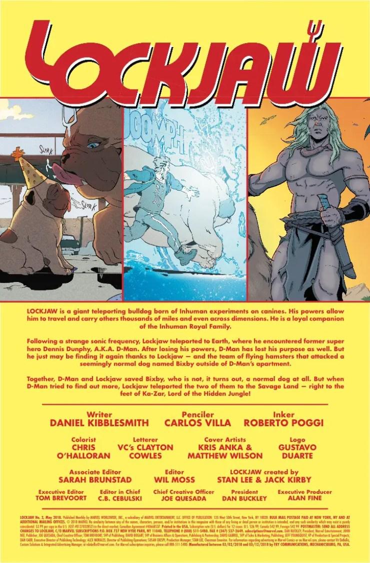 Marvel Preview: Lockjaw #2