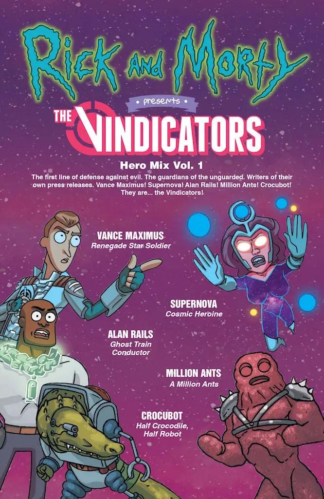 Oni Preview: Rick and Morty Presents: The Vindicators #1