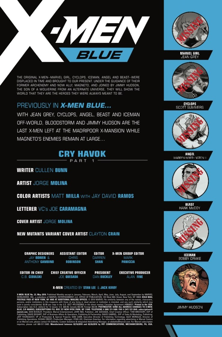 Marvel Preview: X-Men Blue #23
