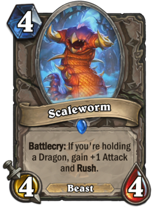 Hearthstone: The Witchwood: New neutral Dragon minion revealed, Scaleworm