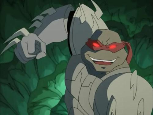 Raphael as the Shredder