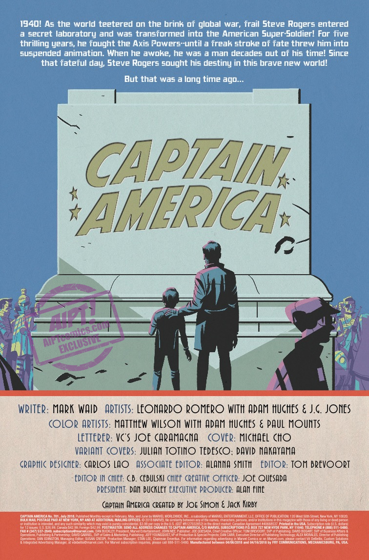 Captain America #701 Review