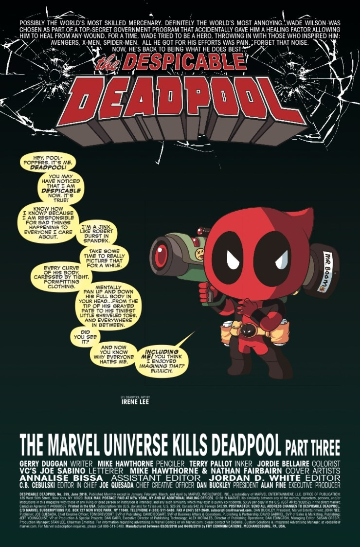 Marvel Preview: Despicable Deadpool #299