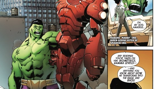 It's a war for Cho's soul in The Incredible Hulk #715.
