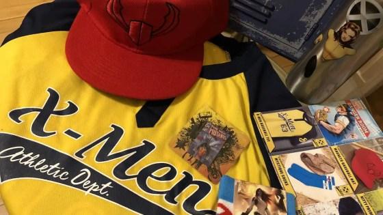 The April 2018 Marvel Gear + Goods is Danger Room baseball themed.