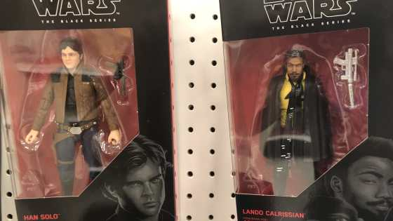 Latest Star Wars Black series are hitting the shelves with new figures from the upcoming Solo movie