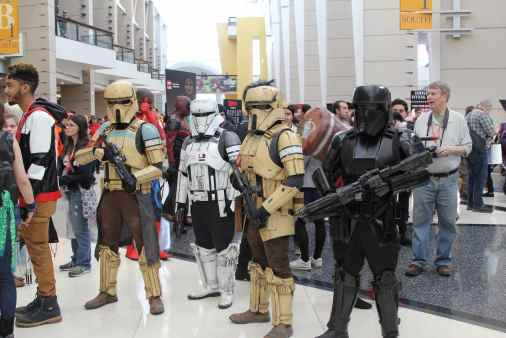 Of course, there was no shortage of troopers.