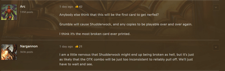Hearthstone: Is Shudderwock already the most broken card in The Witchwood?