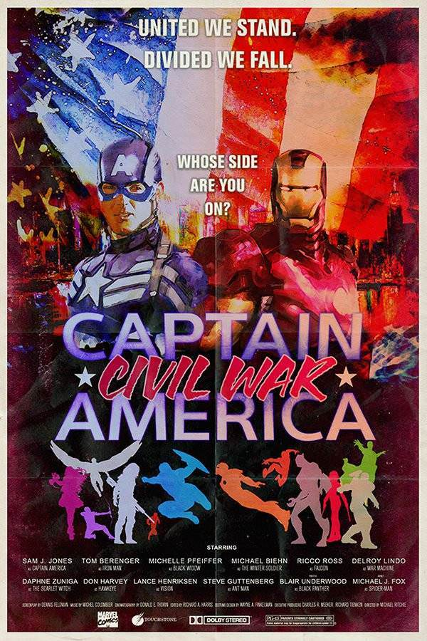 Captain America: Civil War, Anchorman, Deadpool, The Dark Knight and more: Popular movie posters of today as they would've looked in eras past