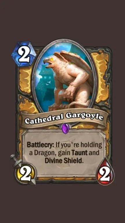 Hearthstone: The Witchwood: New Paladin Epic card revealed, Cathedral Gargoyle