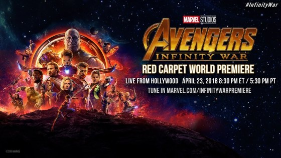 Watch the 'Avengers: Infinity War' premiere red carpet event live