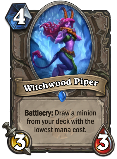 Hearthstone: The Witchwood: New Rare neutral card revealed, Witchwood Piper