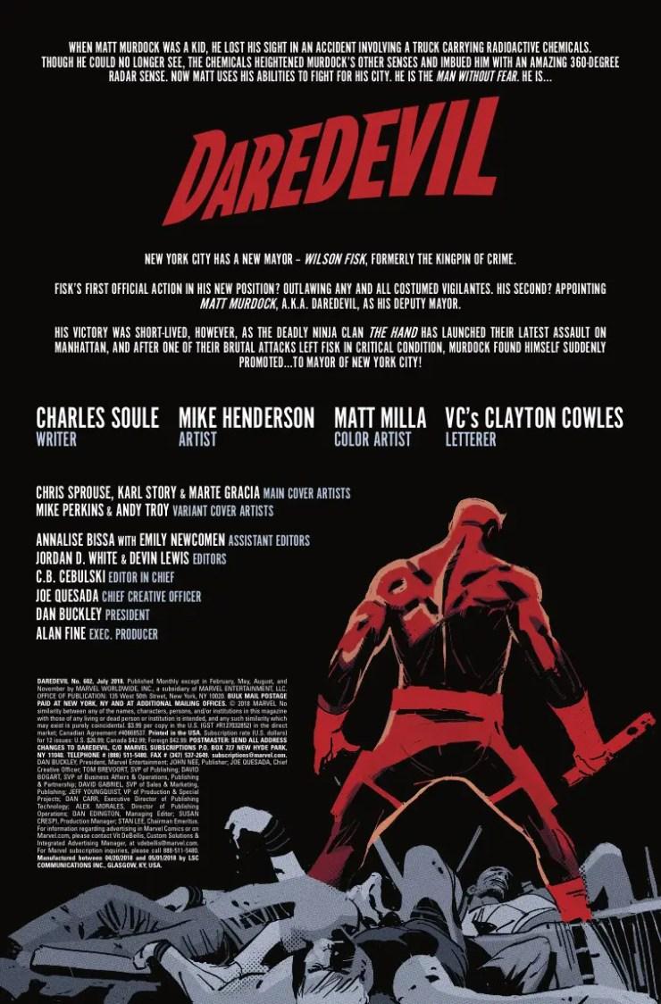 Marvel Preview: Daredevil #602