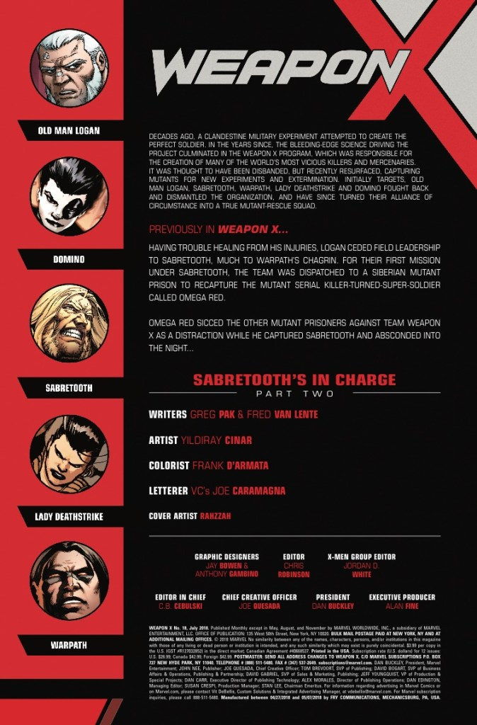 Marvel Preview: Weapon X #18
