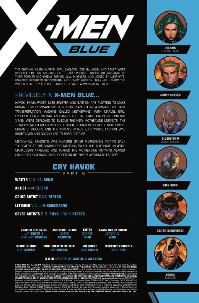 Marvel Preview: X-Men Blue #28