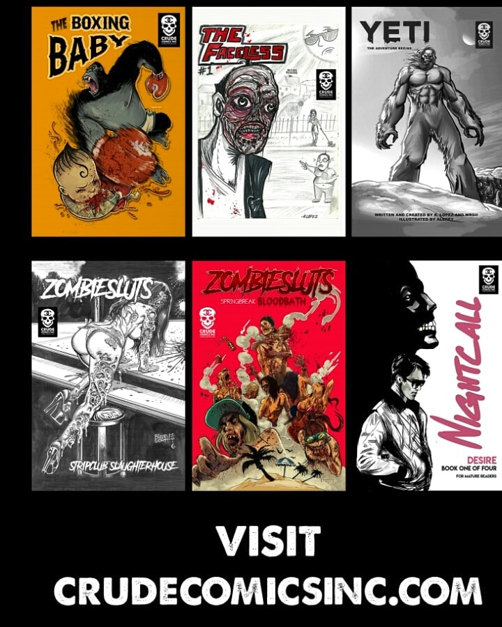 Movies, tattoos, and the state of mainstream comics: An interview with Robbie Lopez of Crude Comics, Inc.