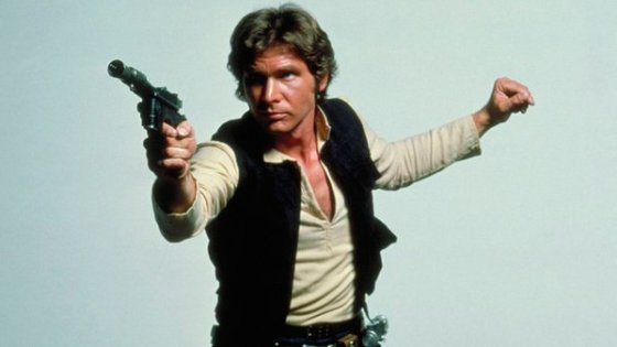 The DL-44 heavy blaster pistol  became a distinguishable piece of cinema lore thanks to Han Solo.