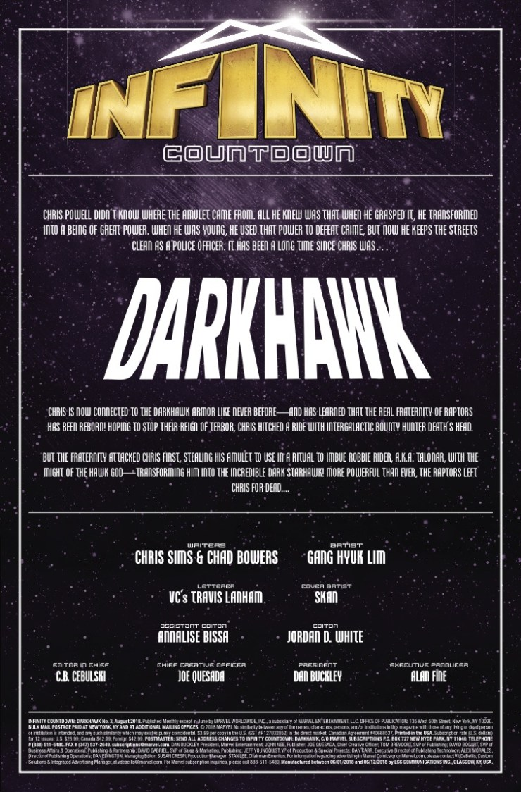 Marvel Preview: Infinity Countdown: Darkhawk #3