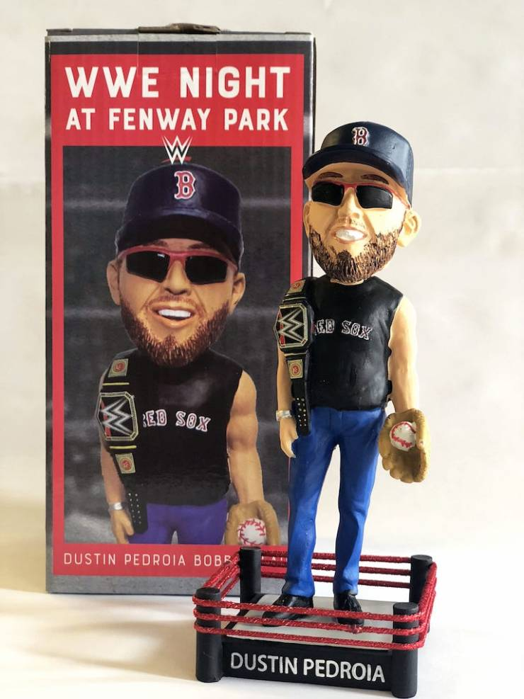 AiPT! Giveaway: Official Red Sox and the WWE Dustin Pedroia WWE bobblehead
